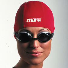 Maru Polyester unisex swimming cap - Red - from £1.75