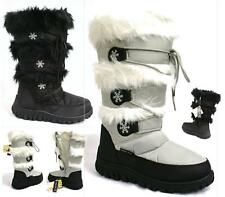 SHUHEAVEN LADIES WINTER FUR LINED KNEE HIGH SNOW BOOTS LACE GRIP SOLE BOOTS SIZE