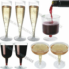 DISPOSABLE GLASSES, COCKTAIL, CHAMPAGNE, WINE, PARTY, PLASTIC, GLASS FLUTES CUPS