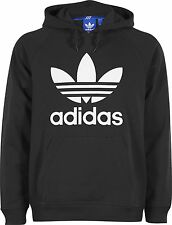 New Adidas Originals Men's Rag Trefoil Zip Hoody Sweat Shirt Black SZ S / M