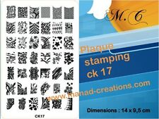Stamping Nail Art Bck xl Tampon Raclette kit  Pour Vernis A Ongles Konad Gel uv