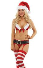 Sexy Santa Christmas Costume Fancy Dress Complete Outfit 5 Piece FREE POSTAGE
