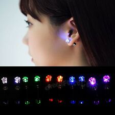 1PC New Light Up LED Bling Ear Studs Earring Accessories for Dance Party