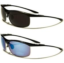 X-LOOP NEW MENS LADIES WOMENS BLACK MIRRORED WRAP SPORTS LARGE UV400 SUNGLASSES