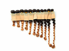 "TOP ! Lot 100g 2TONE :1B/27# Brazilian Ombre Hair Extensions Loose Wave 10""30"""