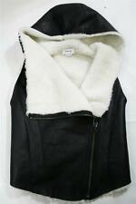 New AUTH Helmut Lang TUFT SHEARLING HOODED VEST $1295