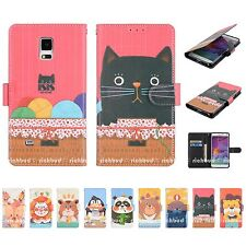 Wallet Leather Animal Characters Flip Case Cover For Apple iPhone Samsung LG