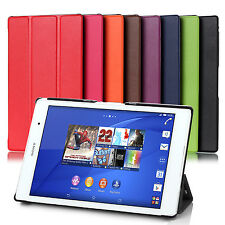 ULTRA THIN SMART PU LEATHER CASE COVER FOR SONY XPERIA Z3 TABLET COMPACT