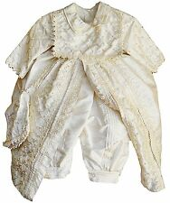 Baby Boy Christening outfit, Spanish Style Gown (ropones para bautizo)