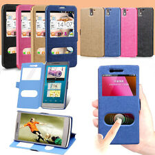 New Quick Window View Flip Case Cover for OnePlus One Fast shipping+Drop shippin