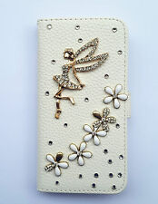 Bling Angel Wallet Card Holder PU Leather Flip Case Cover For Sony Phones