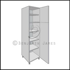 Kitchen Carcass Unit - Tall Larder Cabinet - 18mm Back - 100 Colours!