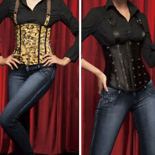 Sexy Costume Suspender Lace-Up Bustier Bodice Underbust Corset Vest Top New USA