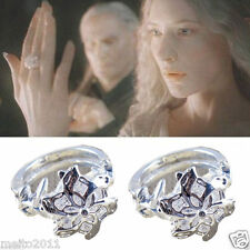 Film The Lord of the Rings Nenya Galadriel Exquisite Crystal Finger Ring Elegant