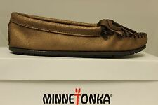 Women's Minnetonka Metallic Moccasin Brown 403F Brand New In Box
