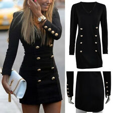 Fashion Women Bandage Bodycon Long Sleeve Evening Sexy Party Cocktail Mini Dress