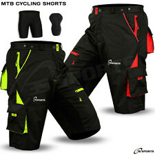 MTB Cycling Short Cycle Off Road cycle CoolMax with Padded Liner Shorts S to XXL