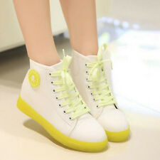 Lace up sneakers womens flats nite bright 3 tone espadrilles canvas shoes teen's
