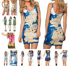 Middle Earth Stretchy tube dress FUN singlet tank top style LOTR Map Maple Skull