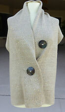 Womens Wrap Designer Noelle New With Tags Two Button Sparkle