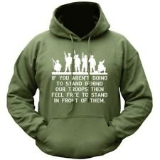 MILITARY HOODIE SUPPORT OUR TROOPS SOLDIER HOODY WW1 WW2 INFIDEL BRITISH ARMY