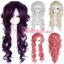 70cm Long Curly Wave Halloween Party Cosplay Synthetic Full Hair Wigs ZY65