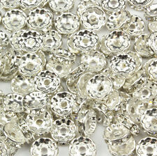 Crystal Rondelle Spacer Beads Glass Swarovski Crystal Rhinestone 6MM 8MM 10MM