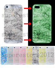 Shine illuminat Glow in Darkness Silk Filar Back Case Cover For iPhone 4 4s 5 5s
