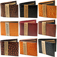 New Mens Bifold Trifold Genuine Leather Wallet Multi Style Color Fashion ID Bill