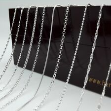 """Wholesale 5PCS/Lot Fashion Jewelry 925 Plated Silver Chain Necklace Gift 16-30"""""""