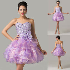 Sweetheart Sparkly Rhinestone Mini Short Party Prom Ball Evening Cocktail Dress