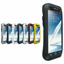 LOVE MEI Aluminum Glass Shock Water proof Case For Samsung Galaxy Note2 N7100
