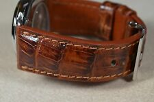 MA WATCH STRAP 26 MM REAL CROCODILE LEATHER PADDED HANDMADE SPAIN CROCO-P.HAVANA