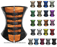 Full Steel Boned Heavy Lacing Satin & PVC Overbust Shaper Corset #9204