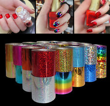 12 Colors Nail Art Transfer Foil Sticker for Nail Tips Decoration   GRUS
