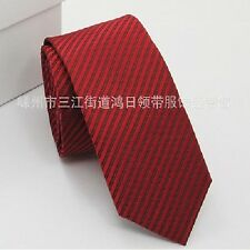 2015 New Classic Solid Color Stripes JACQUARD WOVEN Silk Men's Tie Necktie  SHUS