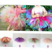 New Girls Kids Toddler Dress Skirt Party Dance Wear Tutu Pettiskirt Costume 1-6Y