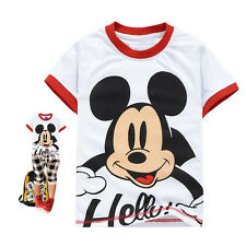 Lovely Baby Kids Boys Girls Mickey Mouse Printed Tops Shirts T-shirt 2-7Year wsn