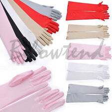 High quality For Party Wedding Ladies Beautiful Bridal Satin 55cm Long Finger