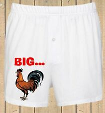 Personalised Mens Boxer Shorts Funny Wedding Stag Birthday Gift Big Rooster