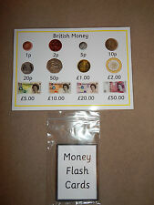 British Money - Flash Cards or Poster - KS1 / NUMERACY/NUMBER VALUES.