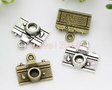 20pcs Tibet Silver Retro style Lovely Mini Camera Jewelry Charms Pendant 15x14mm