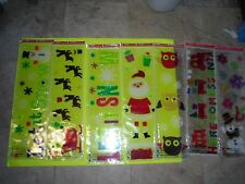 NEW Holiday Time Window Gel Clings Holiday Decorations Birthday Party Christmas