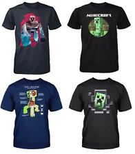 Boys Official MINECRAFT T- Shirt CREEPER Top 7 8 9 10 11 12 13 Years 100%Cotton