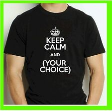 Buy 1 KEEP CALM Custom Personalized T Shirt -Your TEXT- Camisetas