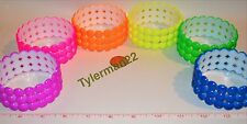 """1 LARGE BRIGHT COLORFUL 3"""" PLASTIC BUBBLE RING BIRD PARROT FOOT TOY PART CHOOSE"""