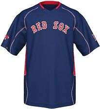 Boston Red Sox MLB Majestic Vintage Mens Champ Jersey Navy Blue Big & Tall Sizes