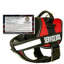 barkOutfitters- Service Dog Harness Vest w/ 50 FREE Service Dog ADA info cards
