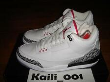 Nike Air Jordan 3 Retro White Cement Black 136064-105 DB BIN 88 A