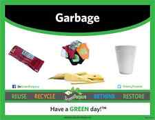 Green Purpose premium standard horizontal color-coded recycling labels